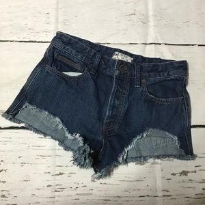 NWOT Free People Button Fly Cutoff Jean Short 27